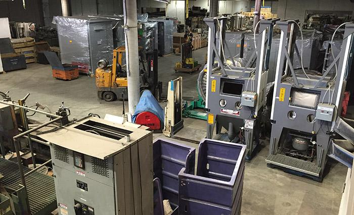 Warehousing and storage of industrial equipment
