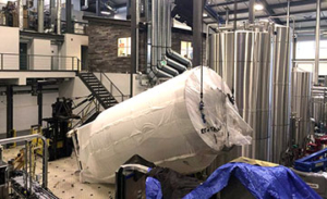 moving a brewing tank